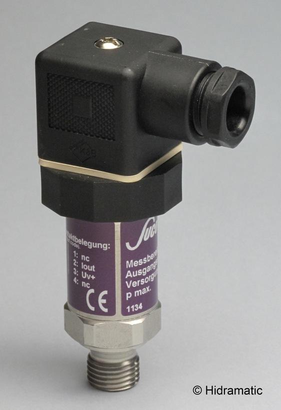 Pressure transmitter SUCO 0605480030001, 0,5-4,5 V rat., 0-10 bar (0-145 psi), G1/4-A, DIN