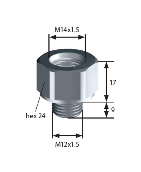 Thread adapter: F-M14x1,5 > M-M12x1,5 SUCO 1183420007