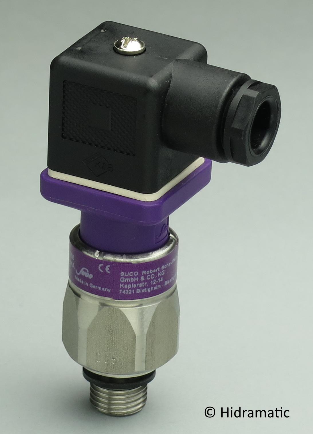 Pressure transmitter SUCO 0602401411013, 4-20 mA, 0-40 bar (0-580 psi), G1/4-E, DIN