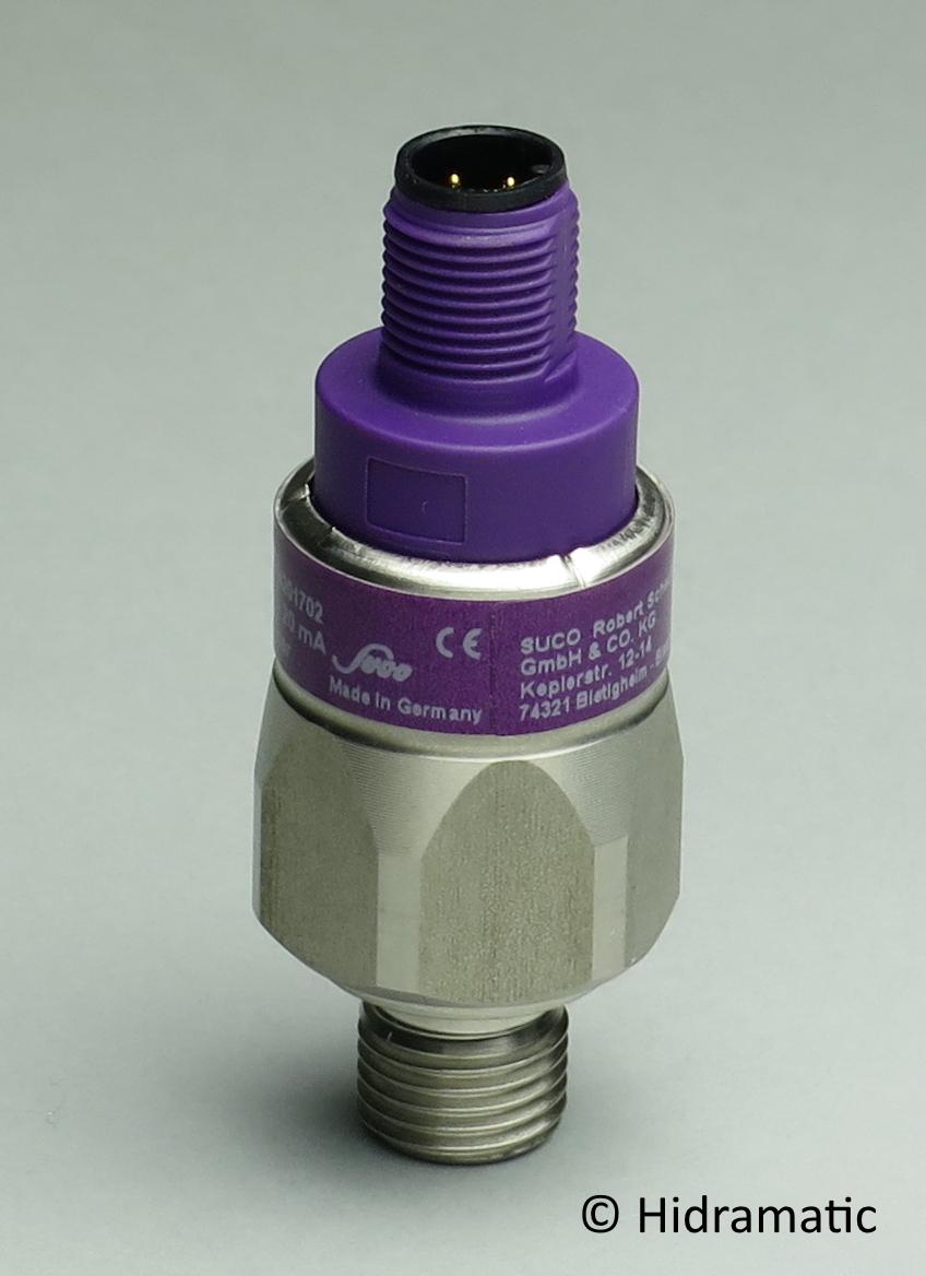 Pressure transmitter SUCO 0602161411002, 4-20 mA, 0-16 bar (0-232 psi), G1/4-E, M12